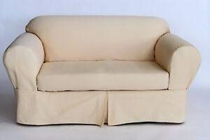 Heavy Twill 2 piece Sofa Slip Cover Cotton sofa Yellow