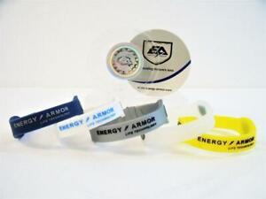 "New Energy Armor Negative Ion Superband Bracelet Size: Large 8.1"" YOU PICK COLOR"