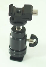 Mini Ball Head with Adjustable Hot Shoe Adapter for Speedlight Flash flash mount
