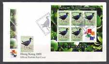 Norfolk Island 2001 Bird/HK Stampex 5v m/s FDC (n21062)