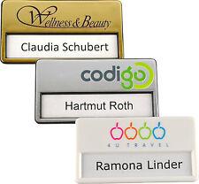 5 x Namensschild mit Magnet, individuellem Logodruck, Druck und Magnet