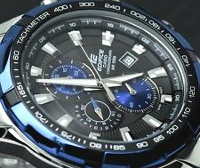 CASIO EDIFICE Chronograph 100M EF539D-1A2 EF-539D-1A2 Black Navy  @