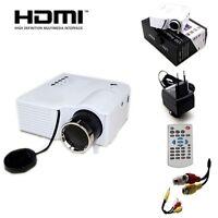 HD LED Mini Home Multimedia Projector Cinema Theater Laptop AV HDMI USB VGA SD