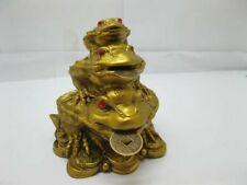 4X Chinese Feng Shui Wealth 3-Money Toad Frogs