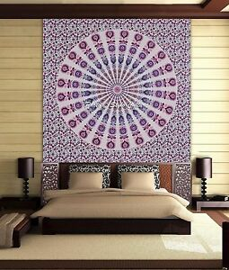 Bohemian Queen Decor Bedspread Mandala Tapestry Indian Wall Hanging Bedding