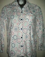 "Carole Hochman Fleece Pyjama Top Small UK6 / 8 White Spot Design 35""-37"" Chest"