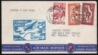 Transoceanic Fam 18 Portugal First Flight Cover Horta Azores to NY 1939 Pan Am