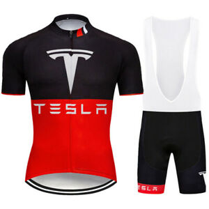 Cycling Jersey Bike Shirt Bib Short Set Clothings MTB Ride Tesla Sports Wear Top