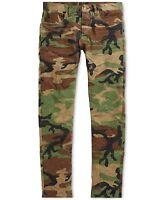 Polo Ralph Lauren Men Rugged Vintage Military Army Camo Slim Pants Jeans