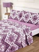 Oslo Flannelette Sheets Set Fitted Flat Pillowcase Pink Single Double King