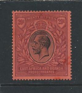 KUT 1912-21 20r BLACK & PURPLE/RED LMM SG 59 CAT £475