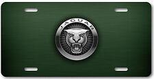 Jaguar Aluminum Metal Car Auto License Plate Tag Abstract Art New British Green