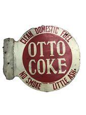 Otto Coke Clean Domestic Fuel Porcelain Sign