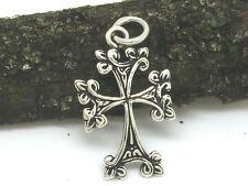 Kreuz Anhänger 925 Silber incl.Band Kleeblattkreuz