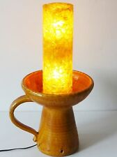 ACCOLAY : LAMPE CERAMIQUE & RESINE 1960 1970 VINTAGE 60S 70S FRENCH RESINA LAMP