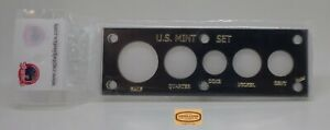 Capital Black Deluxe U.S. Mint Set, 5 coins Holder -  2 X 6 inches - #48861