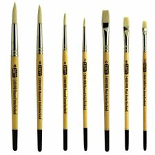 AS-121 White Hog Bristle Brush Set 7 pcs