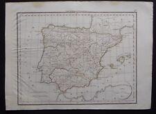§ carte Hispaniae Antiquae - Félix Delamarche 1828 - Espagne