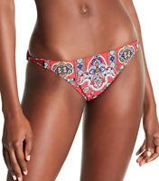 NEW Nanette Lepore Pretty Tough Printed Bikini Bottoms Ruby size S Small