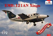 Amodel 72364 Embraer EMB-121AN Xingu France Navy Plastic model kit 1/72
