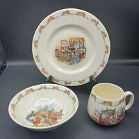 3 piece Childs dinner set Beatrix Potter Bunnykins Royal Doulton Plate Bowl Mug