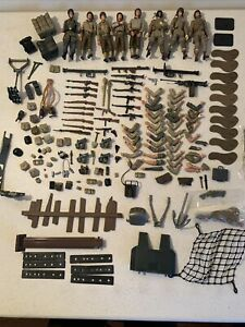 1:18 Ultimate Soldier 21st Century Toys WWII figure guns helmets weapons Lot W