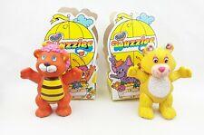 Vintage Wuzzles Butterbear Bumblelion Poseable PVC Figure Disney Hasbro 1985 Lot