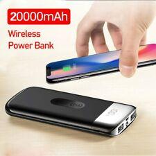 20000mah Wireless Power Bank External Battery Bank Charger Powerbank Portable