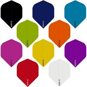30 Standard Raw75 Poly Plain Dart Flights Mixed Joblot Assorted Colours