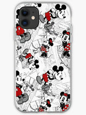 MICKEY & MINNEY MOUSE VINTAGE CLEAR RIM  PHONE CASE COVER FITS All APPLE IPHONE