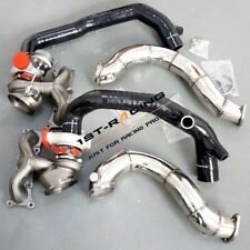 """16T Twin Turbos+2"""" Inlets+ 3"""" Exhaust Downpipe for BMW N54 135i 335i 3.0L 07-10"""