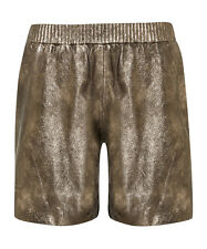 Muubaa Nuru Pewter Leather Shorts. RRP £200. UK 8. BNWT.