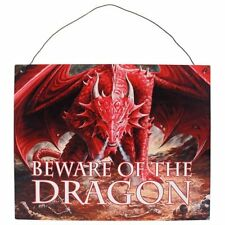 ANNE STOKES METAL WALL ART 'BEWARE OF THE DRAGON' DRAGON'S LAIR WALL SIGN PLAQUE