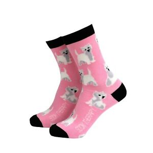 Womens Westie Dog Cute Novelty BAMBOO Gift Socks | Sock Therapy