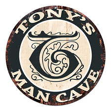 CPMC-0103 TONY'S MAN CAVE Rustic Chic Tin Sign Man Cave Decor Gift Ideas