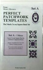 Marti Michell Perfect Patchwork Template Set A 3in Square Basic 7 Pieces 8251