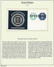 GB octagonal postal stationery dies 1/2p & 3p miniature sheet ovpt SPECIMEN