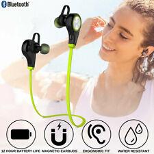 Sweatproof Bluetooth Headset Wireless Sport Stereo Headphones Earphone w/ Mic Us