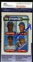 Jeremy Burnitz Jsa Coa Autographed 1992 Topps Rookie Authentic Hand Signed