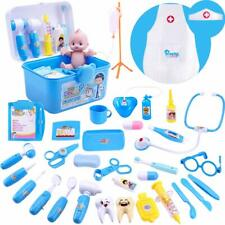 Deluxe Kids Pretend Play Doctor Toy Set,34 Pic Birthday Gift for 3, 4, 5, 6 Year