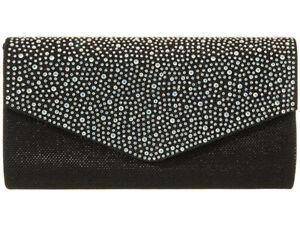 Women's Diamante GLITTER Evening  Clutch Bags Party Wedding Evening Handbag 0702