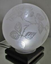 Tulipe Globe Art Nouveau / Déco Verre dégagé à l'acide décor de roses Era Muller
