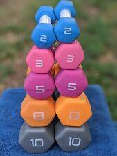 CAP Neoprene Coated Hex Dumbbell Pair Select Weight - 2lb 3lb 5lb 8lb 10lb