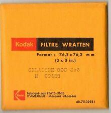 FILTRE Wratten KODAK 76.2 x 76.2 mm gelatine 80C 3X3  dans sa pochette d'origine