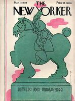 1934 New Yorker March 17 Irish St. Patrick's Day monument - Erin Go Bragh- Irvin