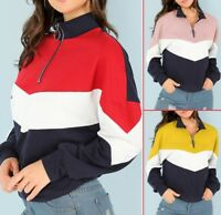 Women's Autumn Winter Colorblock long sleeve plus velvet sweater Outwear Coats