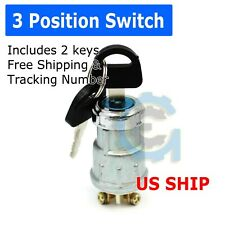 Universal Ignition Key Starter Switch With 2 Keys For Car Tractor Trailer