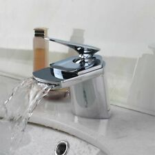 Ceramic Valve Bathroom Faucet Polished Chrome Waterfall Tap For Home Improvement