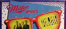 DEL FUEGOS 1985 ROCKIN' ROLL MILLER MUSIC PROMO POSTER