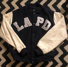Vintage 80s LAPD Los Angeles Police Department Chalk Line Letterman Jacket